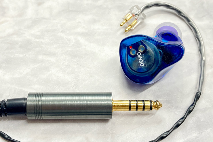TG334とFitEar Cable 007B 4.4 OFC